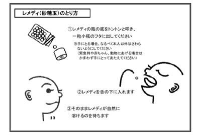 レメディの取り方 ホメオパシージャパン正規販売店@レメディ.com